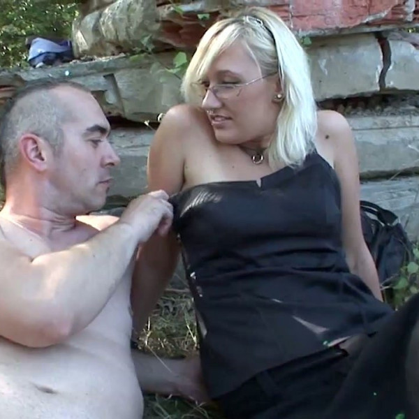 Ugly blonde fucked on public place - Photo 1 / 16